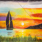 ingrid-kast-fuller-sailing-at-sunset